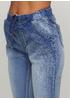 Голубые демисезонные зауженные джинсы Naiif