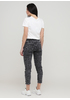 Джинси Miss BonBon завужені, вкорочені однотонні чорні джинсові бавовна