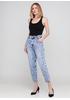 Джинси Miss BonBon вкорочені, завужені однотонні блакитні джинсові бавовна