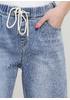 Джеггінси Water Jeans однотонні темно-блакитні джинсові бавовна