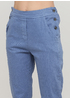 Джинси New Collection завужені, вкорочені однотонні сині джинсові бавовна