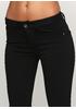 Черные демисезонные зауженные брюки Miss BonBon