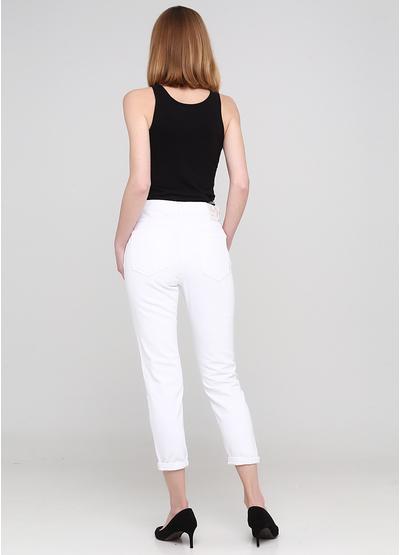 Джинси Miss BonBon вкорочені однотонні білі джинсові бавовна