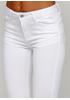 Белые демисезонные скинни джинсы Miss BonBon