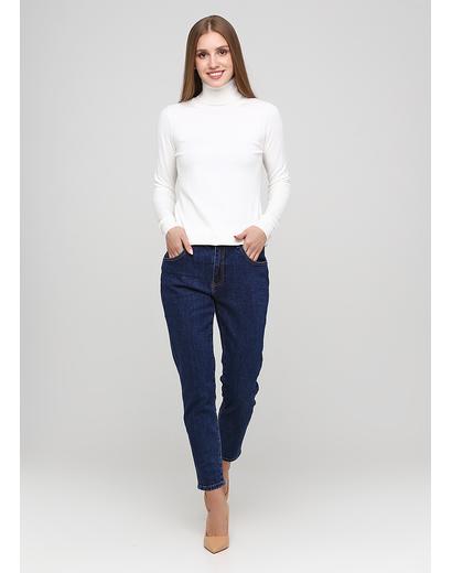 Темно-синие демисезонные зауженные джинсы Miss BonBon
