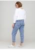 Джинси Miss BonBon завужені, вкорочені однотонні темно-блакитні джинсові бавовна