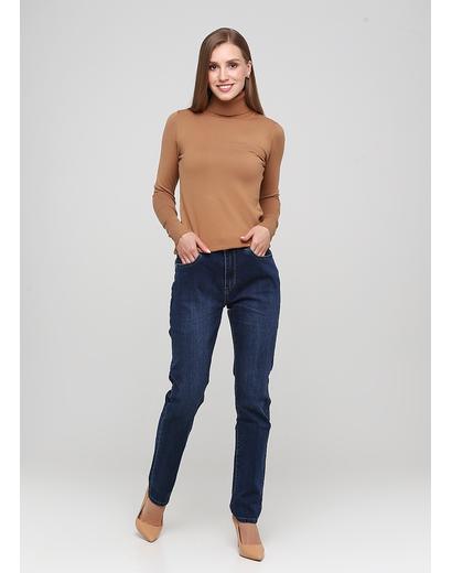 Синие демисезонные зауженные джинсы Made in Italy