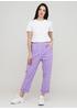 Джинси New Collection прямі, вкорочені однотонні лілові джинсові бавовна