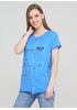 Світло-синя літня футболка Made in Italy