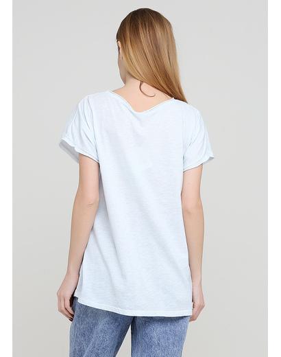 Світло блакитна літня футболка Made in Italy