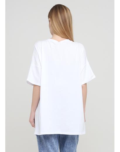 Біла літня футболка 158С