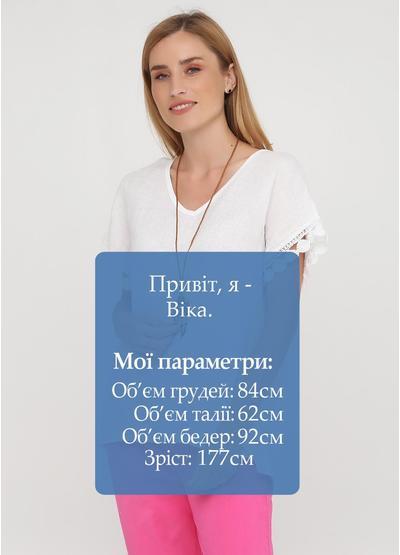 Белая летняя блуза New Collection