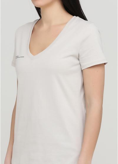 Бежева літня футболка Made in Italy