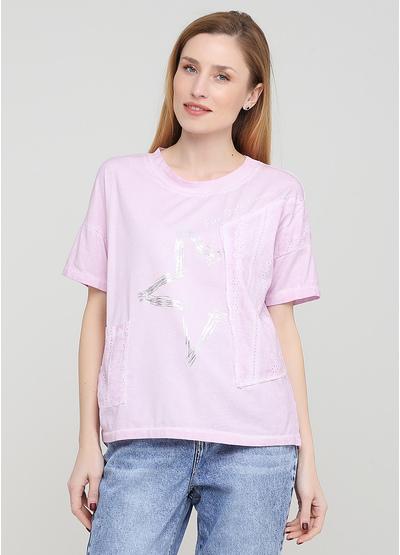 Світло-рожева літня футболка Made in Italy