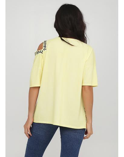 Желтая летняя футболка Made in Italy