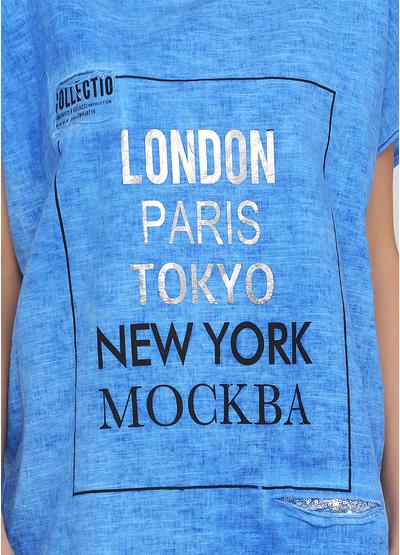 Синяя летняя футболка Made in Italy