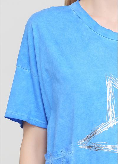 Синя літня футболка Made in Italy