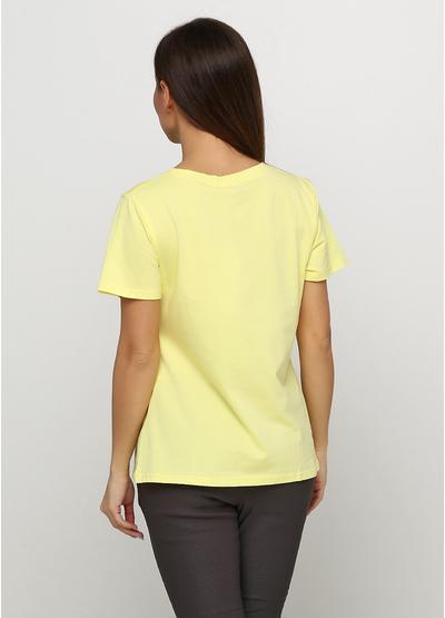Желтая футболка с рисунком Evis