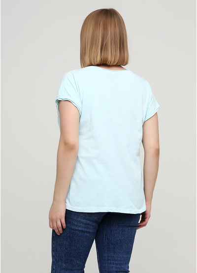 Мятная футболка с надписью New Colection