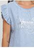 Голубая летняя футболка Made in Italy