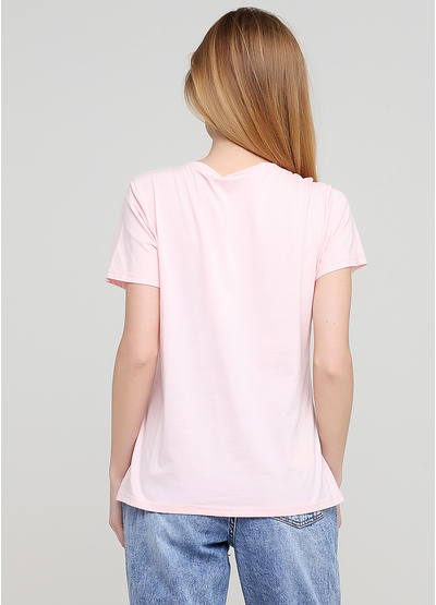 Рожева літня футболка Evis
