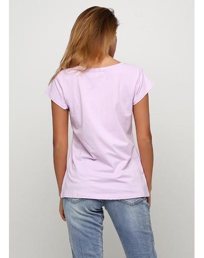 Лавандовая футболка с рисунком Evis