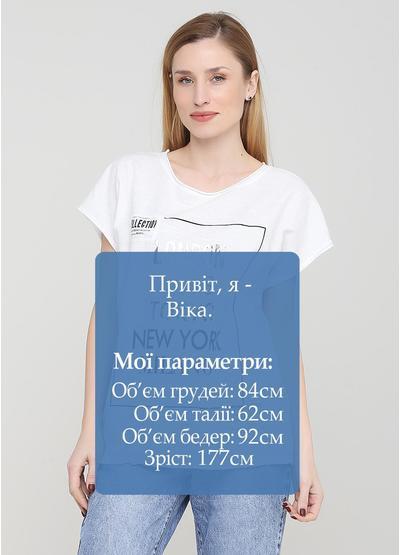 Біла літня футболка Made in Italy