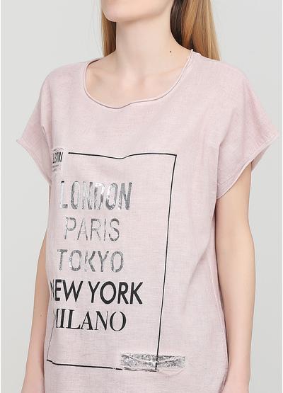Пудрова літня футболка Made in Italy
