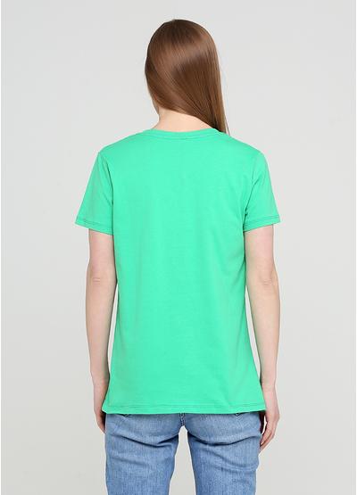Зелена літня футболка Made in Italy