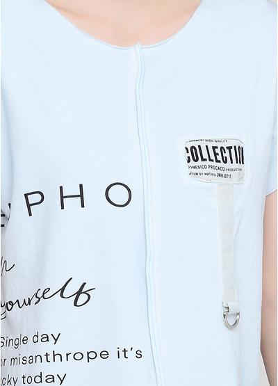Блакитна літня футболка Made in Italy