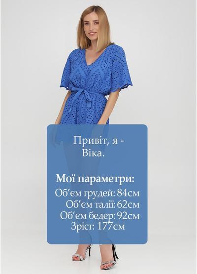 Комбинезон Onlys комбинезон-шорты однотонный синий кэжуал хлопок, прошва