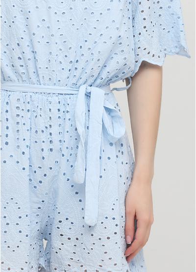 Комбинезон Onlys комбинезон-шорты однотонный голубой кэжуал хлопок