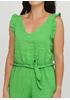 Комбинезон Made in Italy комбинезон-брюки однотонный зелёный кэжуал лен