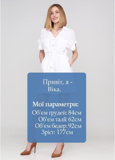 Комбінезон Made in Italy комбінезон-шорти однотонний білий кежуал льон