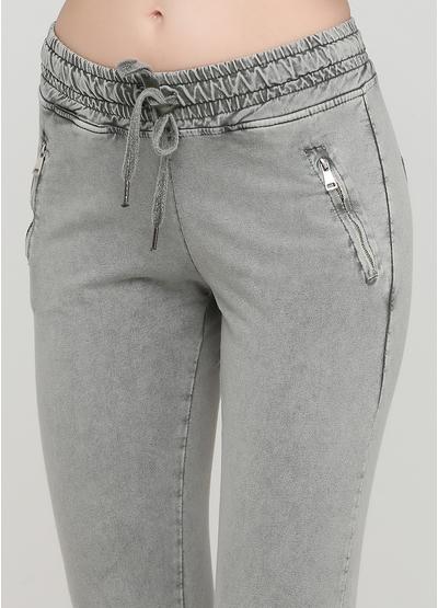 Костюм (світшоти, брюки) Heartless Jeans брючний однотонний сіро-зелений кежуал бавовна, трикотаж