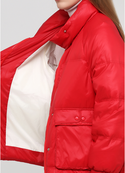 Красный демисезонный пуховик Made in Italy