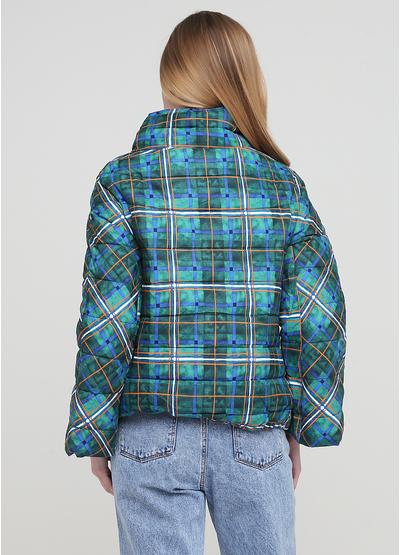 Темно-зелена демісезонна куртка Save Style