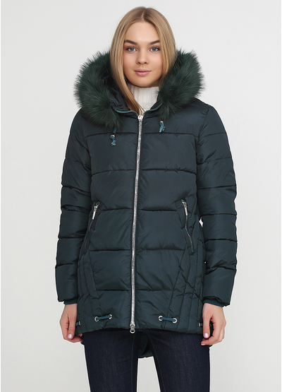 Темно-зеленая зимняя куртка Monte Cervino