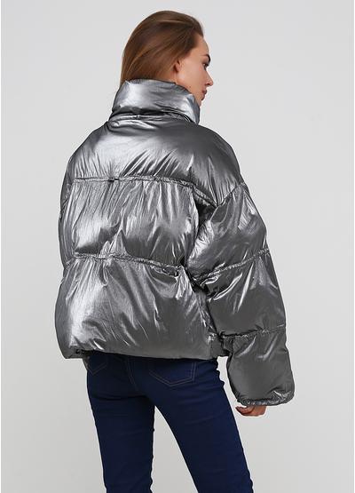 Серебряная зимняя куртка Fly luxury