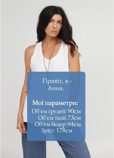 Туника New Collection однотонная белая кэжуал хлопок, лен