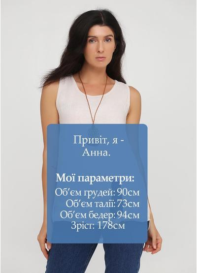 Туника New Collection однотонная светло-бежевая кэжуал хлопок, лен