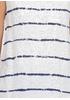 Майка New Collection полоска белая кэжуал трикотаж, хлопок, лен
