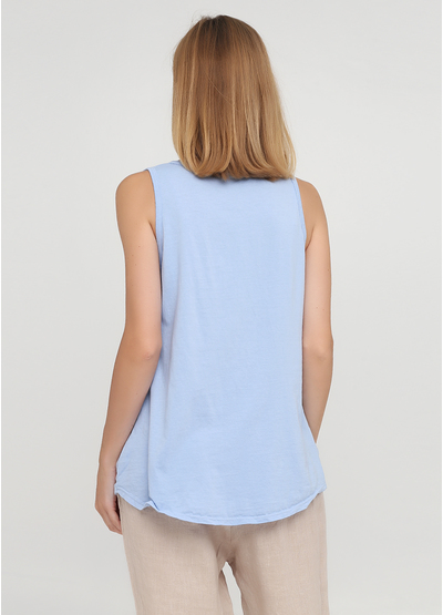 Голубая летняя блуза New Collection