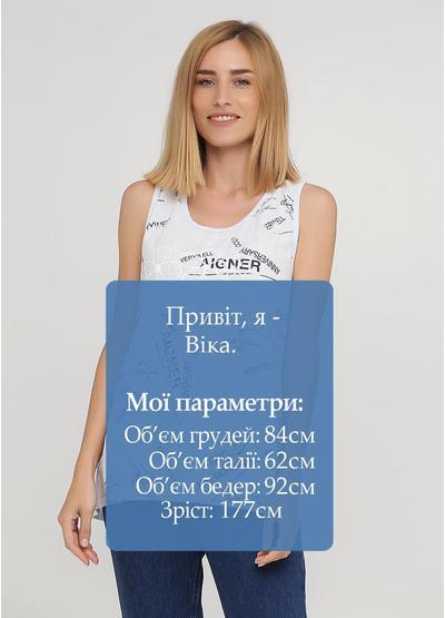 Майка Made in Italy надпись светло-голубая кэжуал трикотаж, лен, хлопок