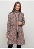 Светло-бордовое демисезонное пальто Normcore firenze