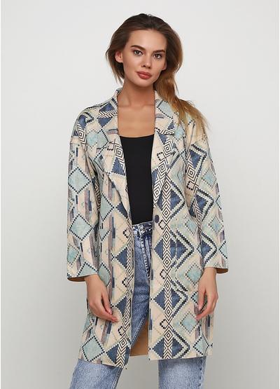 Голубое демисезонное пальто однобортное Sweet Miss
