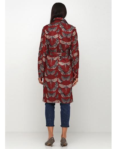 Бордовое демисезонное пальто однобортное Sweet Miss