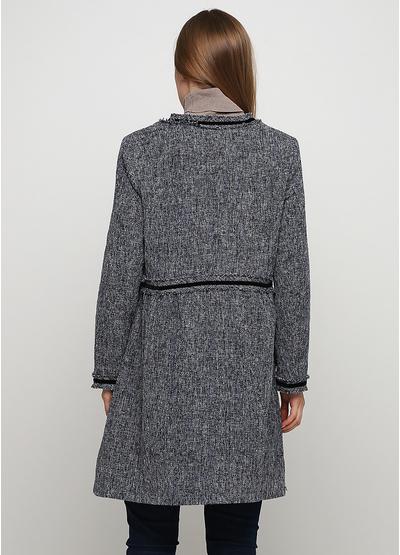 Темно-серое демисезонное пальто Normcore firenze