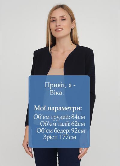 Темно-синий женский жакет New Collection однотонный - демисезонный
