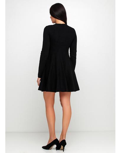 Черное повседневное платье Extra Me однотонное